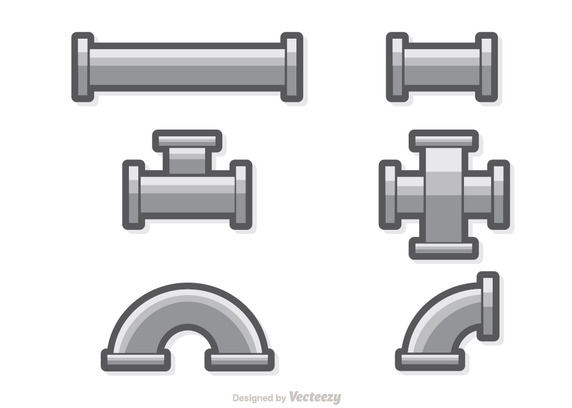 572x408 Sewer Pipe Set Vector Free Vector Download In .ai, .eps, .svg Format