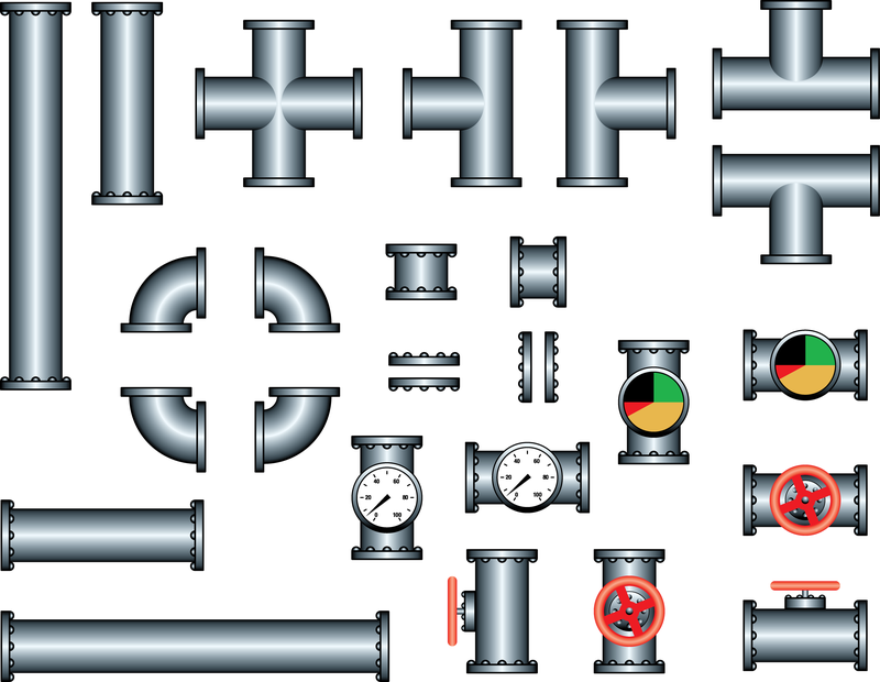 800x620 Steel Iron Pipe Vector