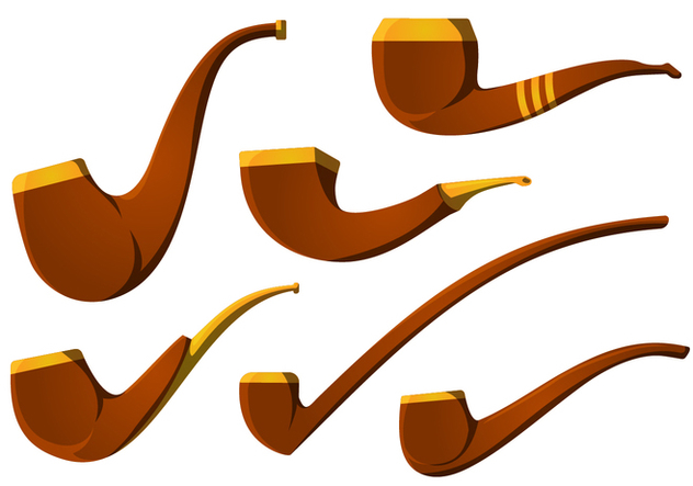 632x443 The Vintage Tobacco Pipe Vector Pack Free Vector Download 328837