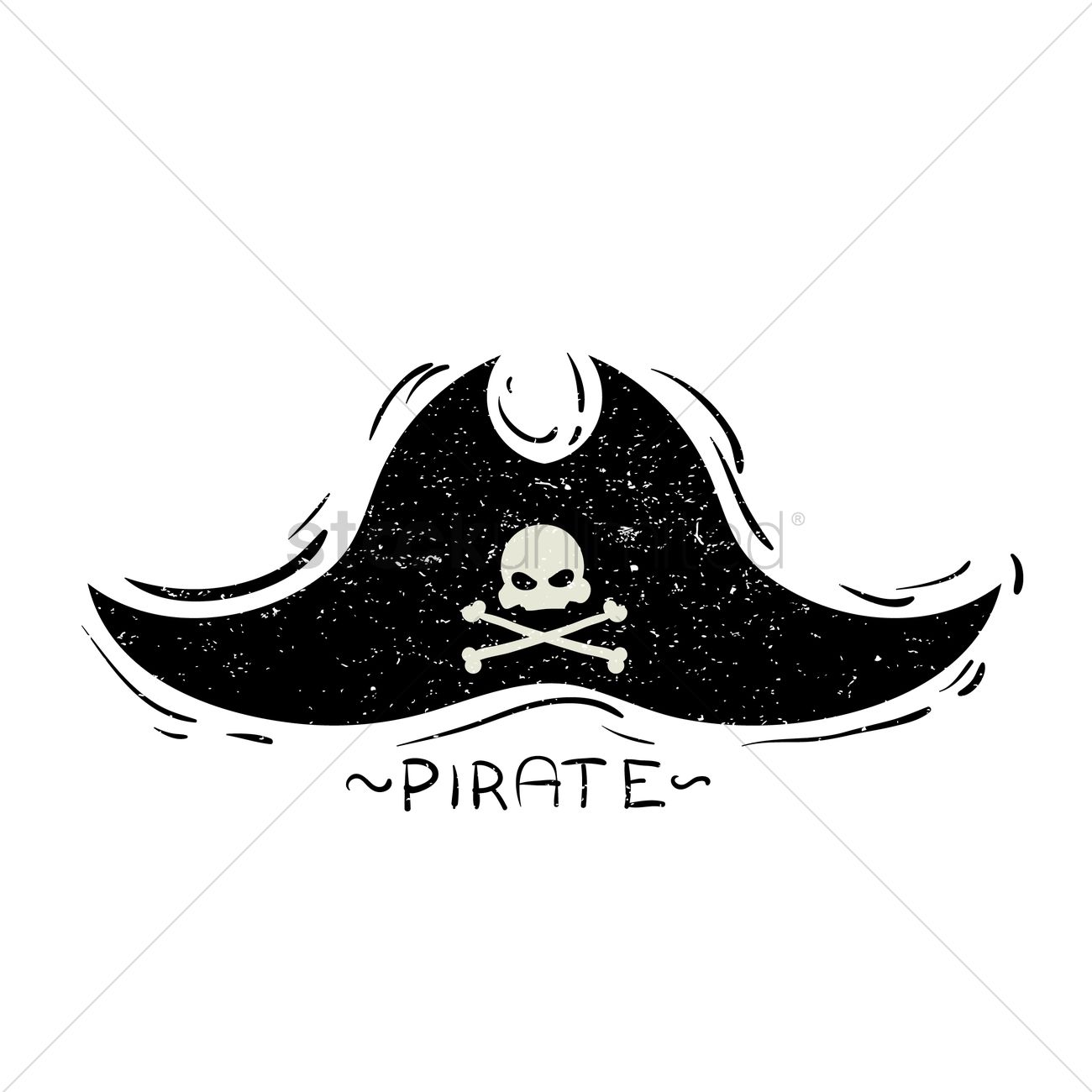 1300x1300 Pirate Hat Vector Image