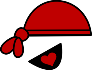 299x228 Red Pirate Hat And Heart Eyepatch Clip Art