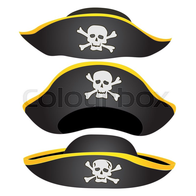 800x800 Set Of Pirate Hat Isolated, Pirate Fancy Dress Hat With Jolly