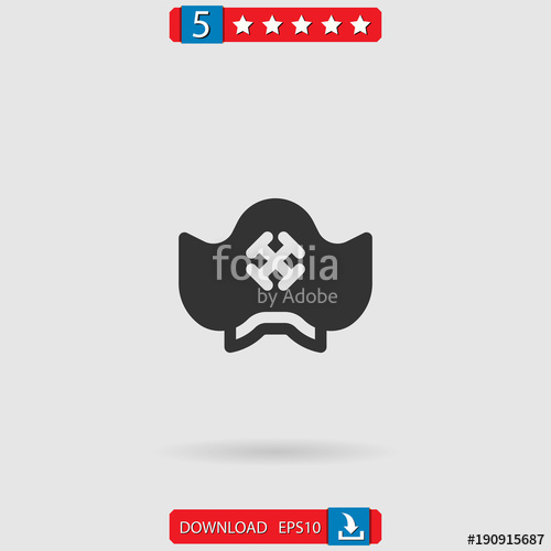 500x500 Pirate Hat Vector Icon Stock Image And Royalty Free Vector Files