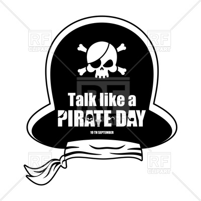 400x400 International Talk Like A Pirate Day. Pirate Hat. Vector Image