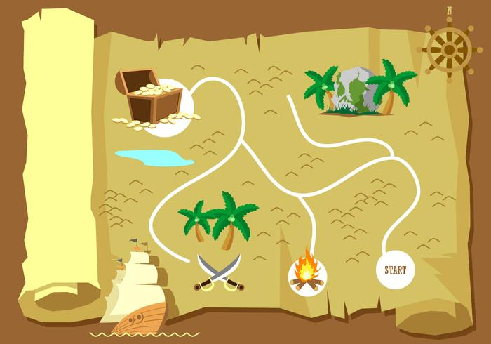 700x490 Treasure Map Free Vector Art