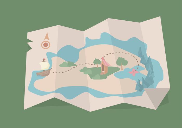 700x490 Treasure Map Vector