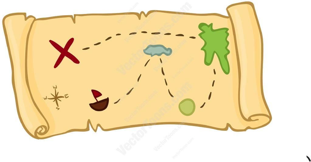 1023x532 Treasure Map Clipart By Vector Toons