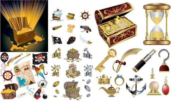 587x352 Treasure Map Free Vector Download (2,425 Free Vector) For