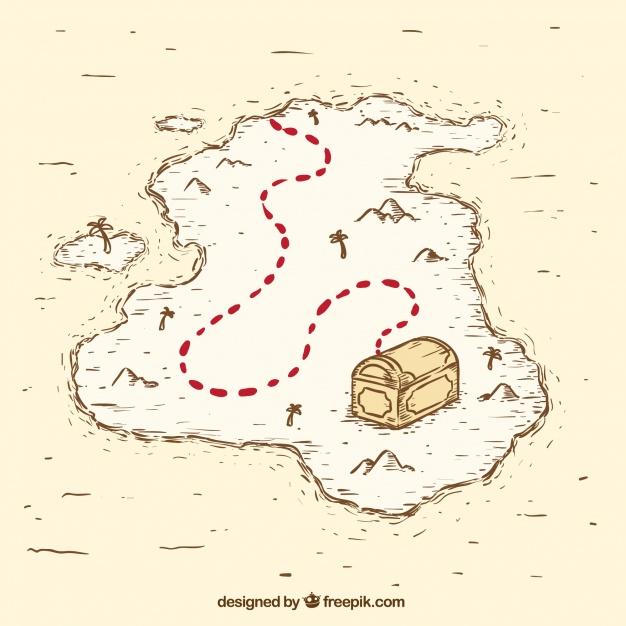 626x626 Vintage Pirate Treasure Map Vector Free Download