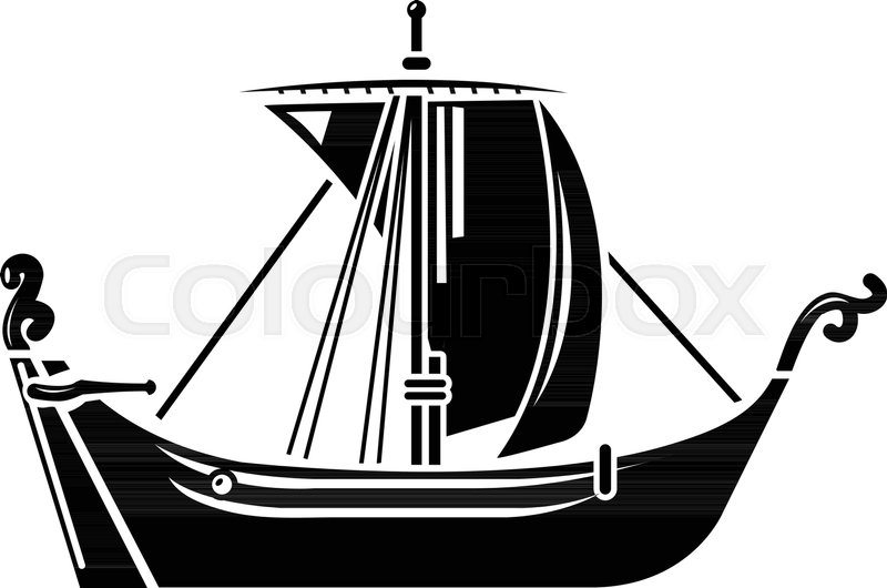 800x530 Pirate Ship Icon. Simple Illustration Of Pirate Ship Vector Icon
