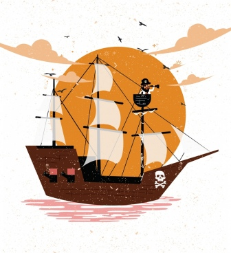 336x368 Pirate Ship Vector Free Free Vector Download (736 Free Vector) For