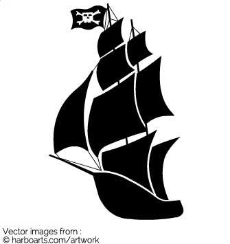 335x355 Download Pirate Ship Silhouette