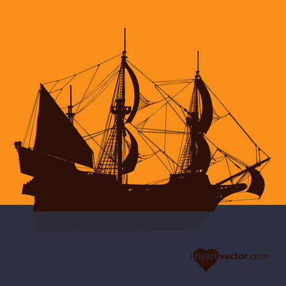 570x570 Silhouette Pirate Ship