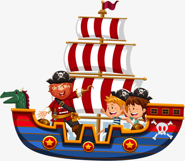 650x565 Vector Hand Painted Pirate Ship, Hand Vector, Pirate Vector, Ship