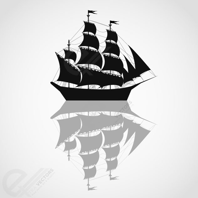 633x633 Free Pirates Ship Vector Silhouettes Psd Files, Vectors Amp Graphics