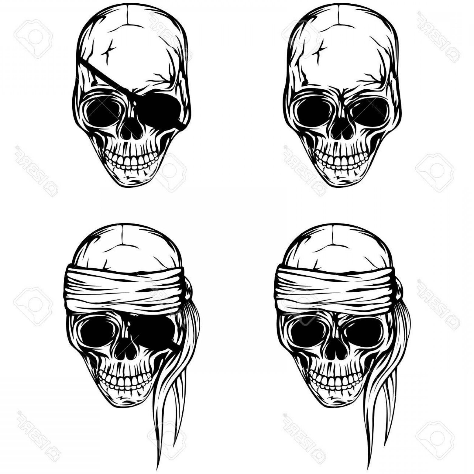 1560x1560 Photostock Vector Vector Illustration Pirate Skull Set Skull With