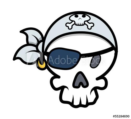 500x455 Pirate Skull