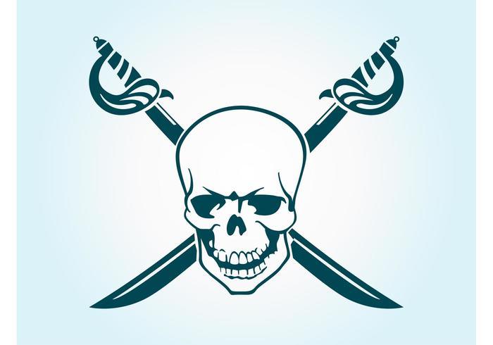 700x490 Pirate Skull Vector