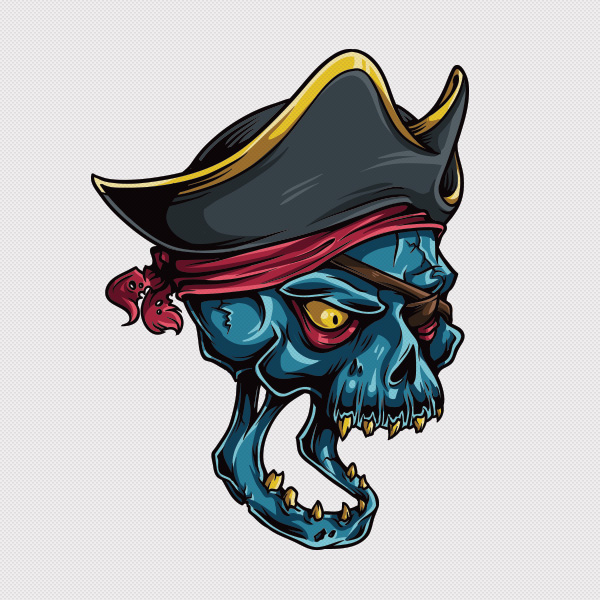 600x600 Adobe Illustrator Tutorial How To Draw A Vector Pirate Skull
