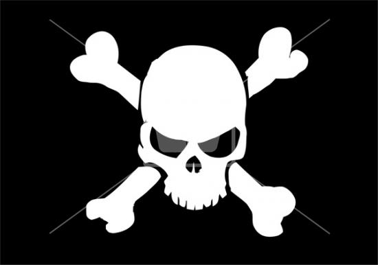 550x386 Pirates Skull Vector