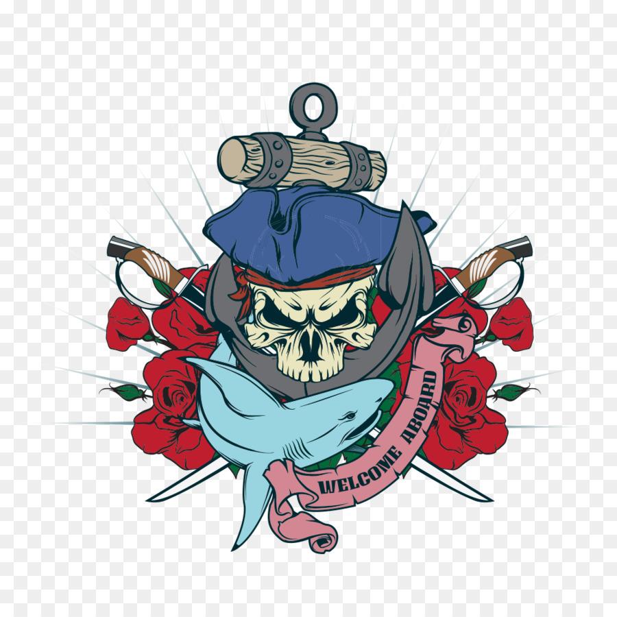 900x900 Cartoon Piracy Illustration