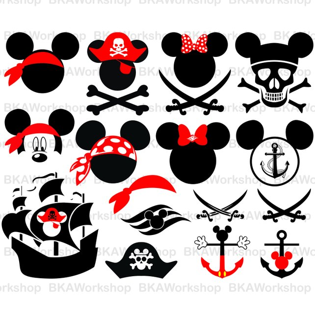 642x642 Mickey Pirate Svg Mickey Pirate Vector Mickey Bundle Etsy