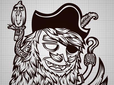 400x300 Pirate Vector By Black Booze Illustrations