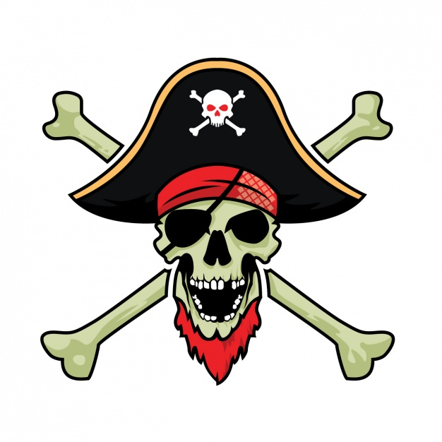 626x626 Pirate Skull Design Vector Free Download