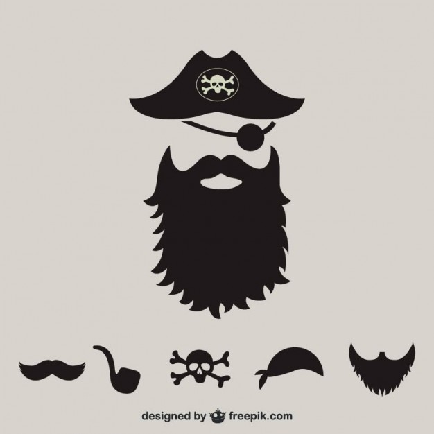 626x626 Pirate Supplies Silhouette Vector Free Download