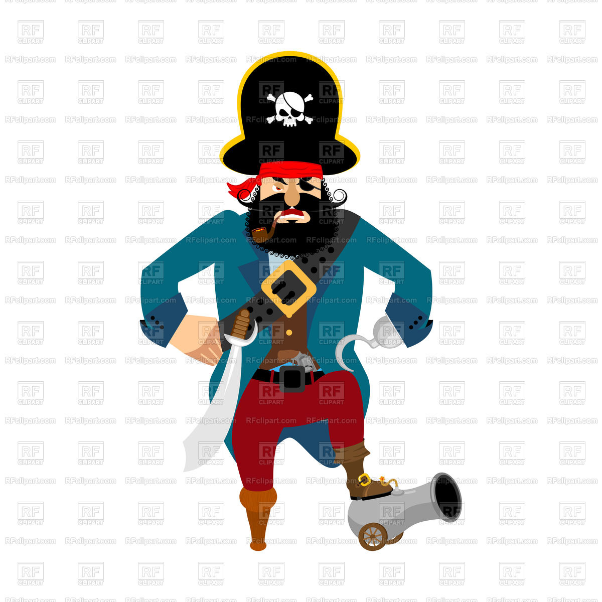 1200x1200 Angry Pirate Vector Image Vector Artwork Of People Popaukropa