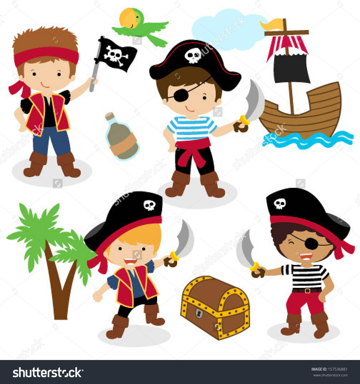 1500x1600 Quality Pirates Pictures For Kids Stock Vector Illustration Of