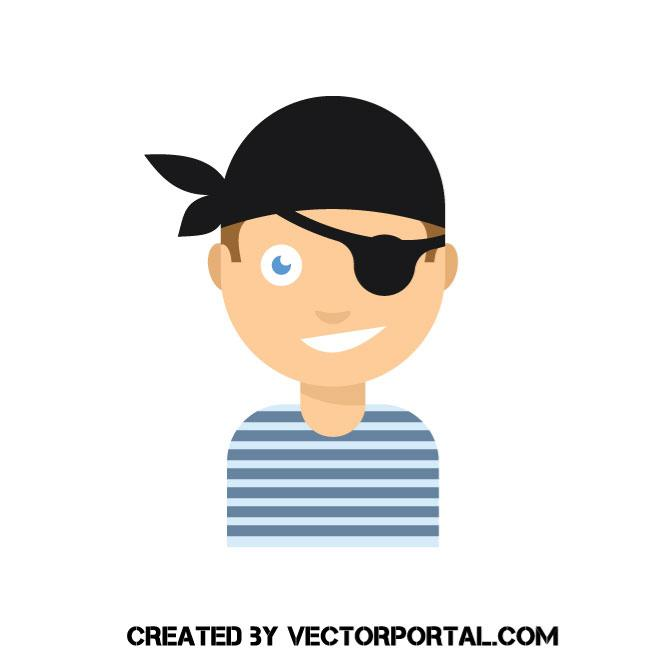 660x660 Boy Pirate Vector Image