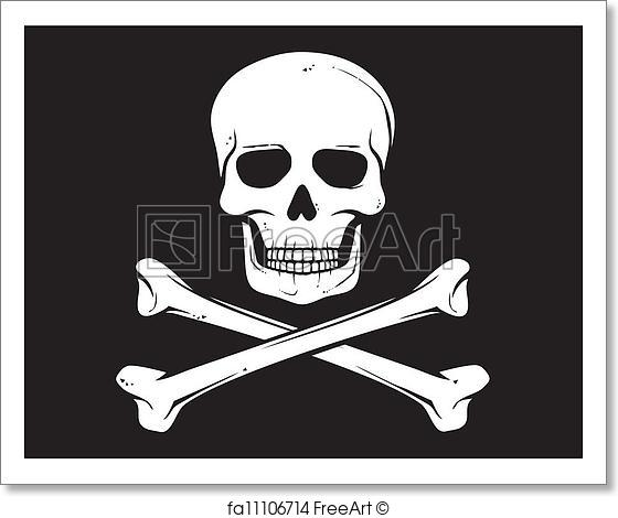 560x470 Free Art Print Of Pirate Vector Flag (Jolly Roger). Pirate Vector