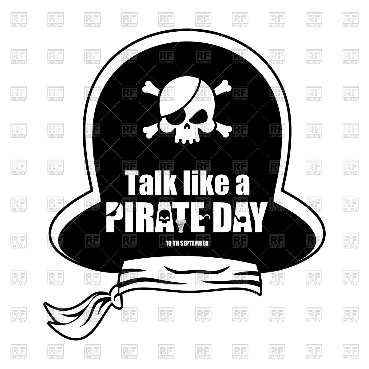 1200x1200 International Talk Like A Pirate Day. Pirate Hat. Vector Image