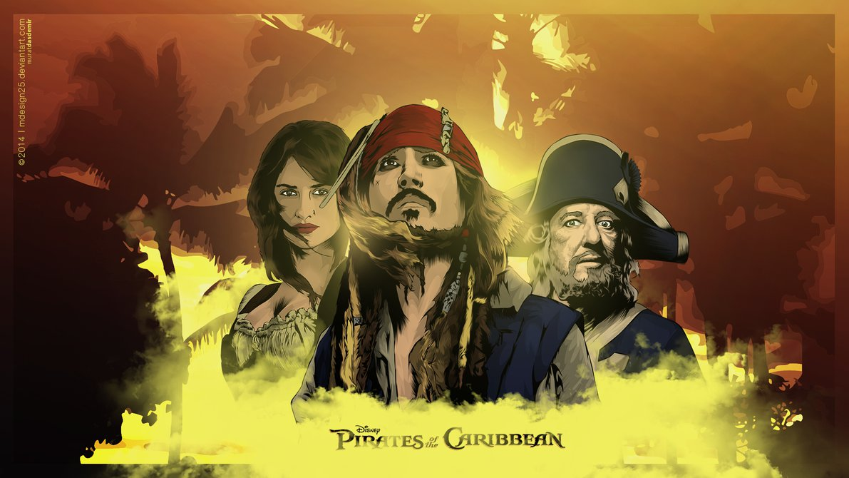 1191x670 Pirates Of The Caribbean Vector By Mdesign25