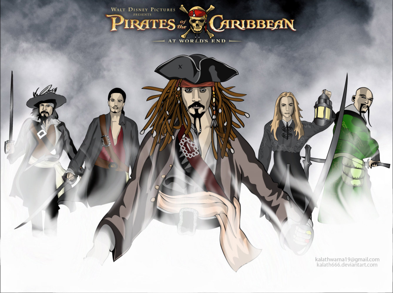 1338x996 Pirates Of The Caribbean Lll By Kalath666