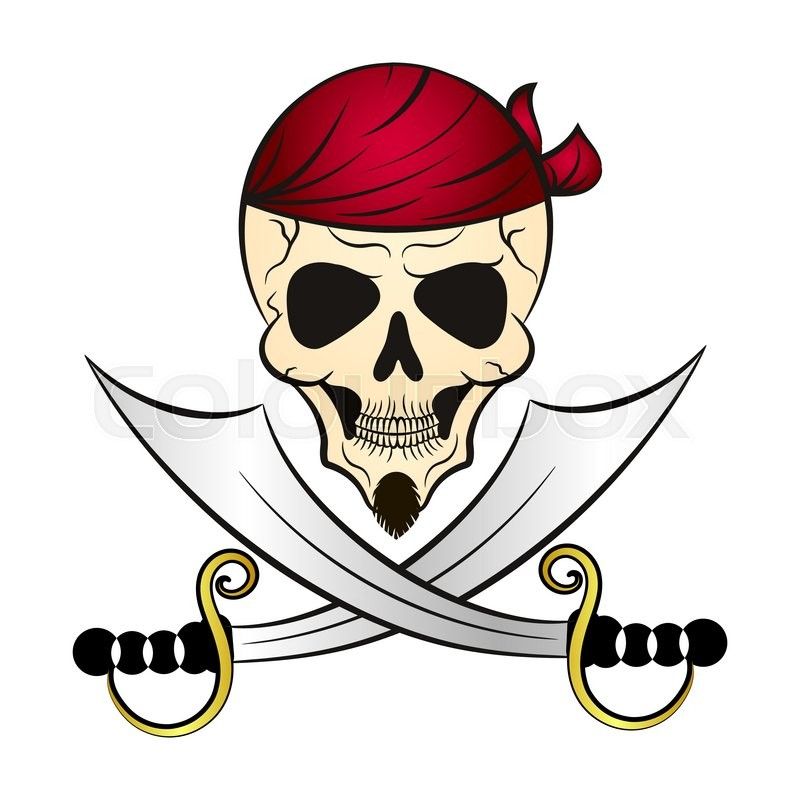 800x800 Skull And Swords Patch Pirate Of The Caribbean Stock Vector
