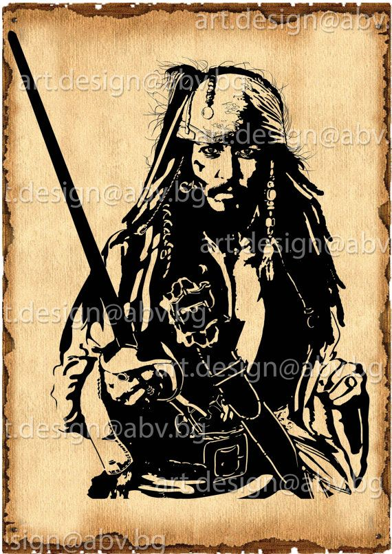 570x806 Vector Jack Sparrow Pirates Of The Caribbean By Duglygraphics