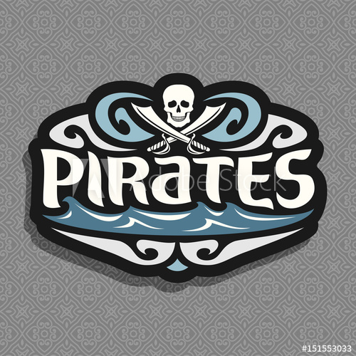 500x500 Vector Logo For Pirate Theme Gray Skull And Crossed Swords Or