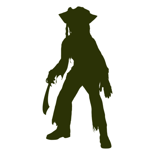 512x512 Caribbean Pirates Character Silhouette