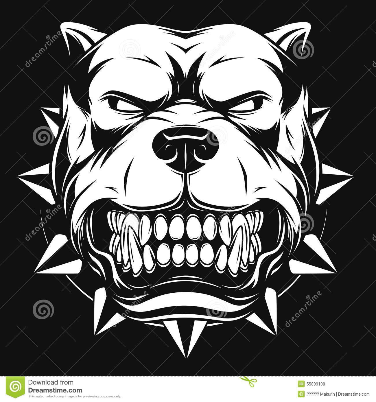 Pitbull Dog Vector
