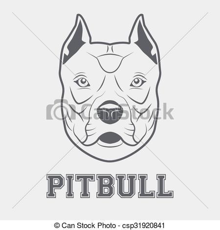 450x470 Pitbull Head Mascot . Pitbull Mascot Head. Symbol Of Dog. Vector
