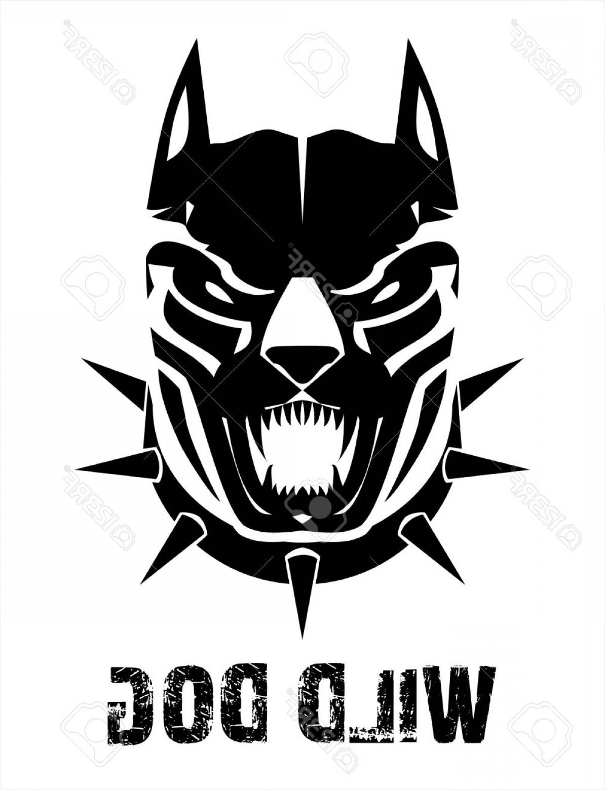 1194x1560 Photostock Vector Pitbull Doberman Boxer Wild Dog Black Wild Dog