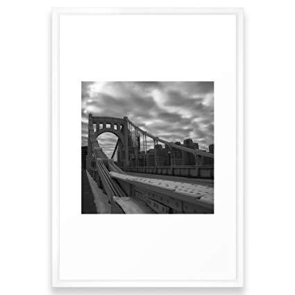 425x425 Society6 Gothic Pittsburgh Framed Print Vector White
