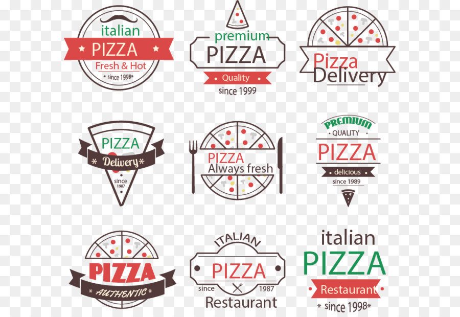 900x620 9 Vintage Pizza Logo Vector Material Png Download