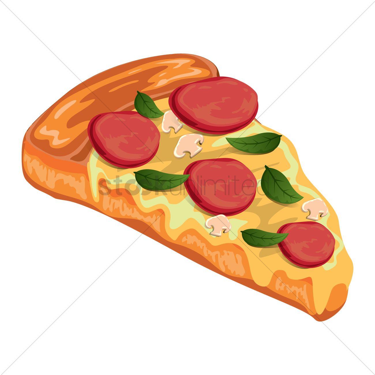 1300x1300 Pizza Slice Vector Image