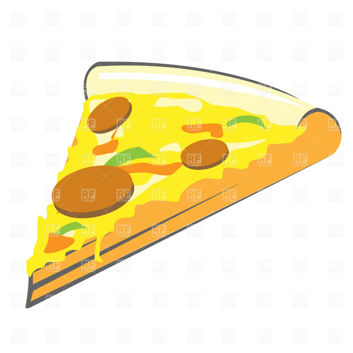 1200x1200 Pizza Slice Vector Image Vector Artwork Of Food And Beverages