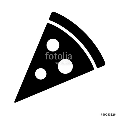 500x500 Pizza Slice With Pepperoni Flat Icon For Apps And Websites Stock