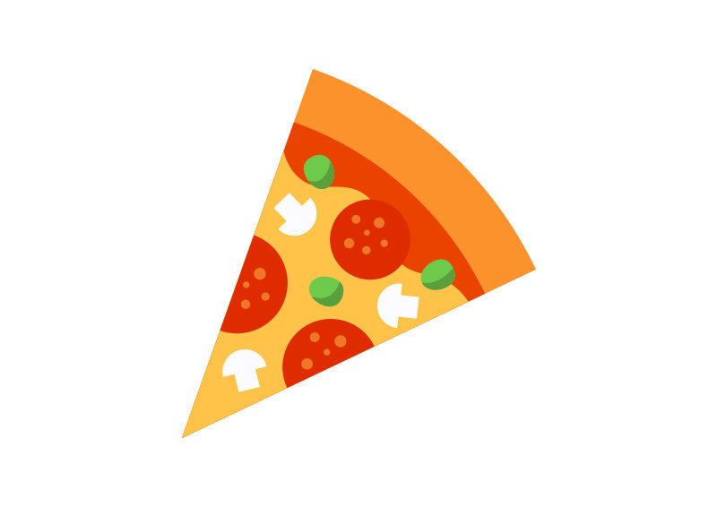 800x566 Slice Of Pizza Free Flat Style Vector By Superawesomevectors On