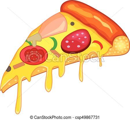 450x416 Vector Illustration Of Pizza Slice.